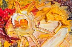 Sol för olje- målarfärg Royaltyfria Foton