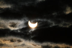 sol- förmörkelse Arkivbilder