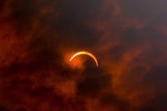 sol- förmörkelse 2008 Arkivbild