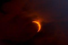 sol- förmörkelse 2008 Arkivfoton
