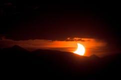 Sol- förmörkelse 2012 Arkivfoto