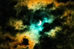 Sol- förmörkelse för fantasi Arkivfoton
