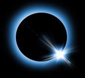 Sol- förmörkelse Arkivbild