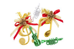 Sol-Fa key Christmas decoration Stock Image