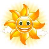 Sol feliz ilustração stock