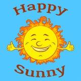 Sol feliz dos desenhos animados Fotografia de Stock Royalty Free