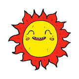 sol feliz dos desenhos animados cômicos Foto de Stock