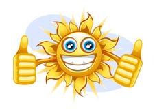 Sol feliz no verão Ilustração Stock