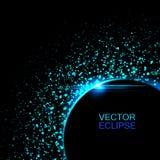 Sol- förmörkelse för vektor Sol i utrymmebakgrund _ Royaltyfri Bild