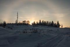 Sol- gloria Royaltyfria Bilder