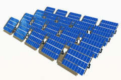 sol- grupppanel Royaltyfri Fotografi