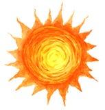 Sol i vattenfärg Arkivfoton