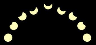 sol- illustration för förmörkelse för bakgrundsblackdesign Arkivbilder