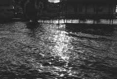Sol- ilsken blick på vattnet Royaltyfri Foto