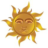 Sol Incan maya - maya, vector stock de ilustración