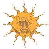 Sol Invictus. The Unconquered Sun symbol. The Sun. Astrological, religious or just summertime symbol Royalty Free Stock Images