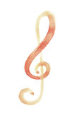 Sol key music symbol notation with watercolour Royalty Free Stock Photo