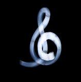 Sol Key Symbol Using Light-het Schilderen Techniek Stock Foto