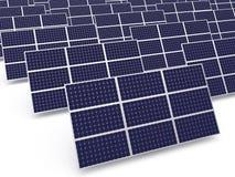 Sol- kraftverk Arkivbild