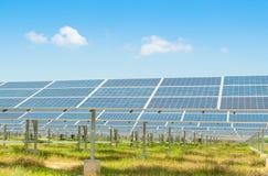 Sol- kraftverk Royaltyfria Foton