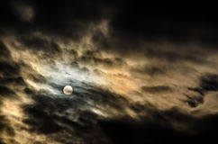 Sol måne Royaltyfria Foton