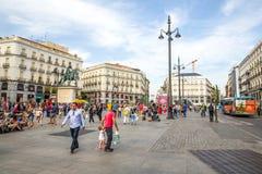 SOL Madrid Spain Imagens de Stock