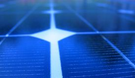 sol- makropanel Royaltyfri Bild