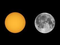 Sol med solfläckar som ses med teleskopet Royaltyfri Bild