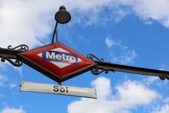 Sol Metro Station madrid arkivfoton