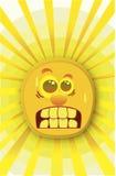 Sol muy caliente stock de ilustración