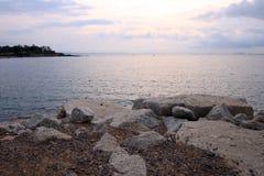 Sol och havet Royaltyfria Foton