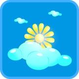 Sol och moln Royaltyfria Foton