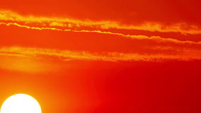 Sol och moln - timelapse. 4K. FULL HD, 4096x2304. lager videofilmer