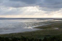 Sol och regn på en holländsk ö Arkivbilder