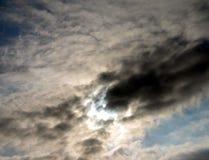 Sol ocultado Imagen de archivo libre de regalías