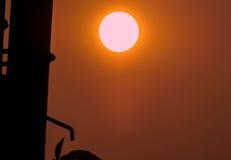 Sol på aftonen Arkivfoto
