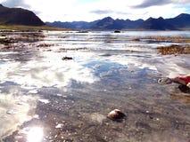 Sol på DÃ-½rafjörður Royaltyfri Fotografi