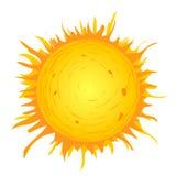 Sol på vit bakgrund Arkivbilder
