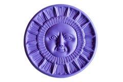 Sol púrpura Imagen de archivo libre de regalías