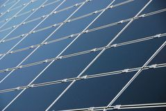 sol- panel Royaltyfria Foton