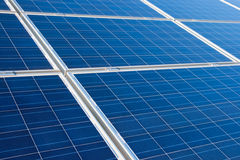 Sol- panel Fotografering för Bildbyråer