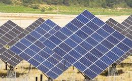 sol- panel Arkivfoto