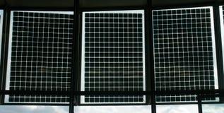 3 sol- paneler Royaltyfri Foto