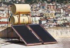 Sol- paneler Arkivfoto