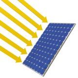 Sol- panelsolljus stock illustrationer
