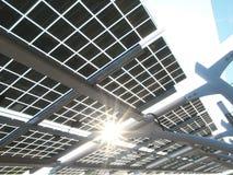 sol- panelström Arkivbild