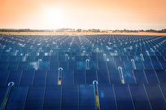 Sol- parkera i soluppgången Fotografering för Bildbyråer