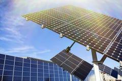 Sol- Photovoltaic celler Arkivfoton