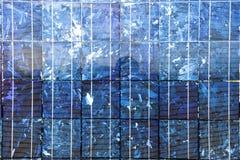 Sol- Photovoltaic celler Arkivbild