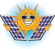 Sol- Photovoltaic paneler Royaltyfri Fotografi